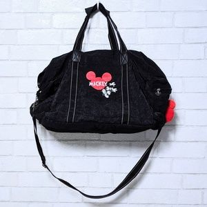 Retro Disney Mickey Mouse Black Duffle Bag